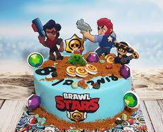 Brawl Stars Cake - עוגת בראול סטארס -  Inbal's Sweet Art | Cake Factory Birthday Party Decorations, Birthday Parties, Boy Birthday, Birthday Cake, School Cake, Hand Painted Cakes, Star Cakes, Cake Factory, Zombie Party