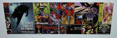 1997 DC Comics 34 x 11 comic book shop promotional promo poster banner 1:JLA/Batman/Superman/Wonder Woman/Watchmen/Aquaman/Joker/Shazam/Bane
