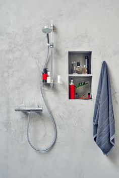 Oras Apollo shower set with Oras Nova thermostatic shower faucet