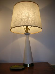 Lovely white and gold vintage lamp found in Jubilee Thrift Store - Palmyra PA http://www.tourdethrift.com/