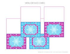 printable frozen place cards or food labels