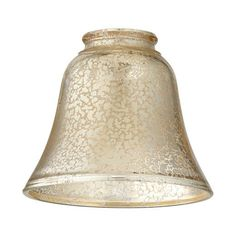 "Quorum International 2847 2-1/4"" Glass Bell Pendant Shade in Silver Mercury"