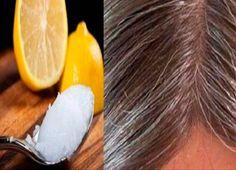Mezcla de aceite de coco y limón: transforma el cabello gris en su natural . - Aceite de coco y mezcla de limón: transforma las canas de nuevo a su color natural. Prevent Grey Hair, Stop Grey Hair, Coconut Oil Uses, Lemon Coconut, Coconut Recipes, Hair Remedies, Tips Belleza, Hair Oil, Hair Growth