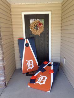 Detroit Tigers Cornhole Board!
