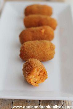 Croquetas de sobrasada www.cocinandoentreolivos (1) by Cocinando entre Olivos, via Flickr