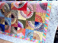 NEW YORK BEAUTY Scrappy Style 57 x 74 multicolor by QuiltLover on etsy.