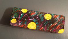 Hand-painted felt clutch! Nicole Royer Art