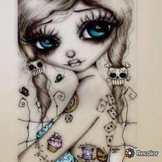 Ideas For Bathroom Art Diy Paintings Craft Ideas Vodoo Tattoo, Catrina Tattoo, Doll Drawing, Et Tattoo, Frida Art, Arte Obscura, Skull Wallpaper, Flowery Wallpaper, Day Of The Dead Art
