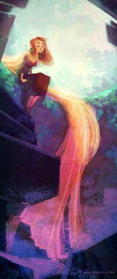 Rapunzel ® Ann Marcellino http://garotasgeeks.com/wordpress/2013/05/14/arte-geek-da-semana-ann-marcellino/