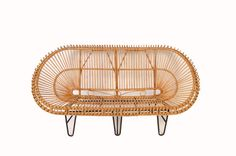 Franco Albini Rattan Sofa Mid Century Modern by HearthsideHome, $995.00 Don't like the legs on this but WOW the rattan