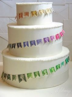 A Stamp Cake Garland- Just delightful. Perfect for the Diamond Jubilee