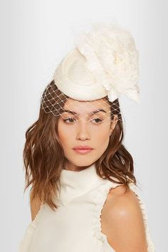 Philip Treacy - Crystal-embellished veiled headpiece 208f12ca95ae