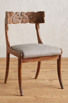 Slide View: 5: Handcarved Fable Dining Chair