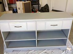 House Canvas: Trash to Treasures: Turning a Dresser Into a Buffet Table