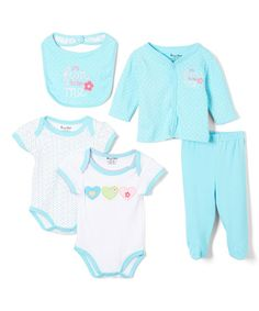 Another great find on #zulily! Blue Fun Five-Piece Layette Set - Infant #zulilyfinds
