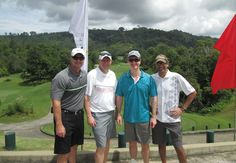 Steve, Bernard Daniel, Danil @ Red Mountain Golf Course Phuket Oct2013  #Golf #