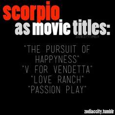 Scorpio as Movie Titles