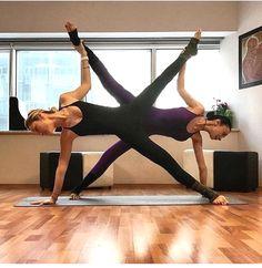 2 person stunts  gymnastics poses yoga challenge poses