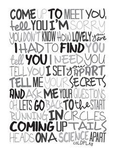 Coldplay el cartel de científico canción Letras por LawandMoore