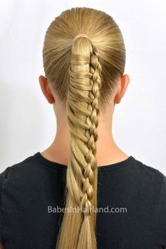Ladder braids are such a unique way to dress up a ponytail. Make your ponytail even more amazing with our round or 4 strand ladder braid. Braided Hairstyles Updo, Fancy Hairstyles, Everyday Hairstyles, Girl Hairstyles, Wedding Hairstyles, Updo Hairstyle, Hair Origami, Messy Bun With Braid, Braided Buns