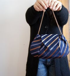 clutch made from vintage ties