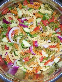 Peggy Jean-Ish Pasta Salad Sweet and Sour Pasta Salad Sweet And Sour Pasta Salad Recipe, Sweet Pasta Salads, Vegetable Pasta Salads, Best Pasta Salad, Summer Pasta Salad, Pasta Salad Italian, Easy Salad Recipes, Salad Dressing Recipes, Vegan Recipes