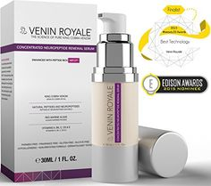 Concentrated Neuropeptide Renewal Serum-All In One Skin Care Moisturizer Cream-Anti Aging Wrinkles Fine Lines Uneven Tone Rosacea-27 Peptide Snake Venom-Dermatologist Tested Botox Alternative-1oz