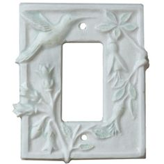 Hummingbird Design Ceramic Art Single Rocker Decora Light Switch Cover Sculpted By Artist Beth Sherman In 12 Glaze Colors