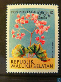 Afbeeldingen. Postzegels - Zuid-Molukken - Bloemen
