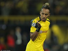 Aubameyang's close-range effort tied up the scores approaching half-time after a lively first-half in Dortmund