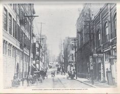 Downtown Chattanooga  Seventh Street, Looking East From Broad Street (1900) Miller Brothers Company at left.