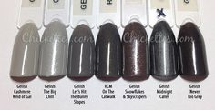 Are you ready to see the new winter colors that Gelish recently released?! This is The Big Chill collection, which is comprised of six cool, shimmery colors. I think you'll be pleased with th…