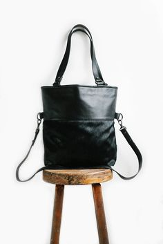 With a name like Wasteland you'd be forgiven for thinking this bag would be a little rough around the edges (think again). Despite years of reclusive wanderings, the Wasteland tote is equally at home. Black Leather Tote, Black Leather Handbags, Leather Backpack, Crossbody Tote, Italian Leather, Gym Bag, Shoulder Strap, Fur