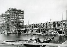 Berlin, Bau der Oberbaumbrücke, 1895.