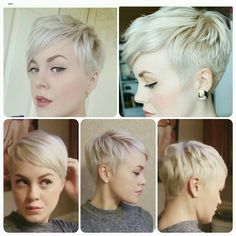 40 Super Cool Short Pixie Hairstyles & Haircut Ideas - Short Haircut Z Short Pixie Haircuts, Pixie Hairstyles, Pretty Hairstyles, Haircut Short, Asymmetrical Haircuts, Sassy Hair, Blonde Pixie, Haircut And Color, Great Hair