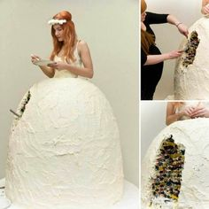 Worst wedding dresses: Edible wedding dress. Who says the bride never has time to eat?! #worst #wedding #dress