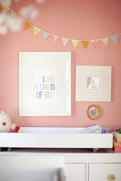 Salmon colored walls