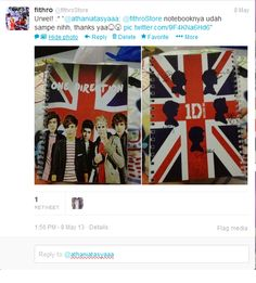 Testimony from our customer about One Direction Notebook : Union Jack series