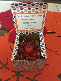 Our lil Pumpkin Pregnancy Reveal Surprise Box Fall by AveryVienna