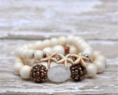 Trio of Starfish bracelets