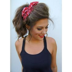 ROCKABILLY Headband Wired Dolly Bow Bandana PIN UP ❤ liked on Polyvore featuring accessories, hair accessories, headband bandana, headband hair accessories, wire headband, kerchief headband and head wrap hair accessories