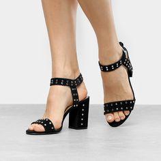 2138097f2d Compre Sandália Drezzup Salto Grosso Rocker Feminina e muito mais em  roupas