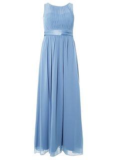 V by Very RRP £28 Bow Bardot Crepe Dress Cornflower Blue