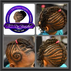French Braid into a twist out