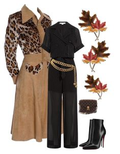 """""""Fall Evening Elegance"""" by kotnourka ❤ liked on Polyvore featuring Alexander Wang, Christian Louboutin, Chanel, Louis Vuitton and Anne Klein"""