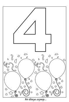 sayı boyama (number coloring pages)