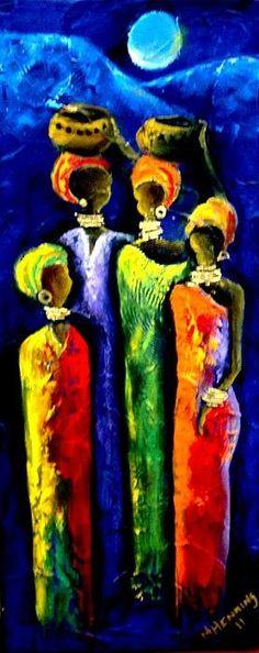 Beautiful Africa3 Print By Marietjie Henning