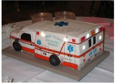 EMT  ambulance cake  Just need to change the colors