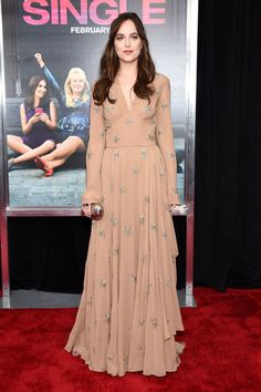 """Dakota Johnson in Saint Laurent at the New York premiere of """"How to Be Single"""" on Wednesday. Photo: Dimitrios Kambouris/Getty Images"""
