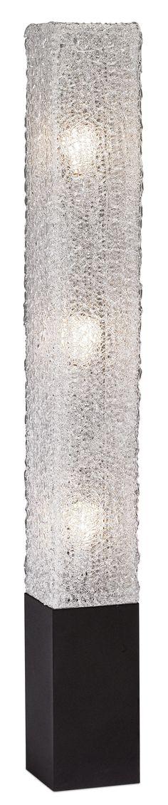 Textured Clear Acrylic Rectangular Floor Lamp -